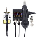 Στα € 30.66 από αποθήκη Τσεχίας   JCD 8898 2 in 1 750W Soldering Station Hot Air Heater LCD Digital Display Soldeirng Iron Welding Rework Station for Cell phone BGA SMD PCB IC Repair
