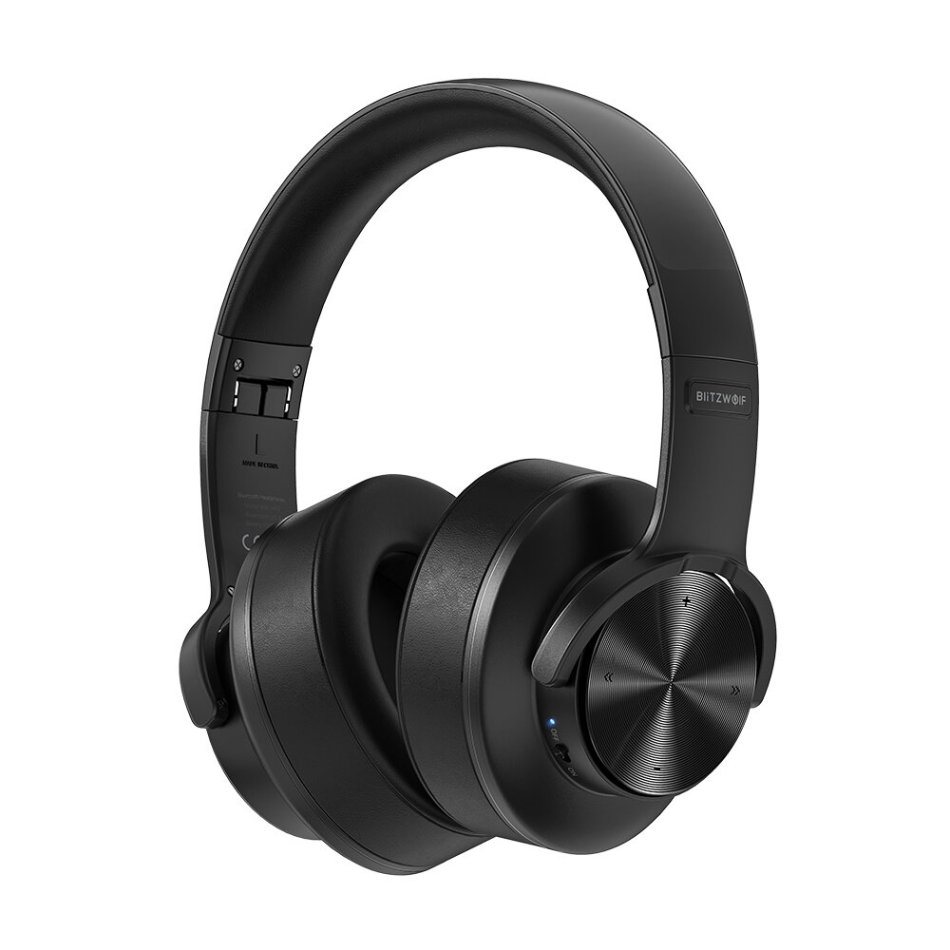 BlitzWolf® BW-HP2 bluetooth V5.0 Headphone Wireless Headset 50mm Driver 1000mAh Touch Control Foldable Over-Ear Gaming Headset with Mic
