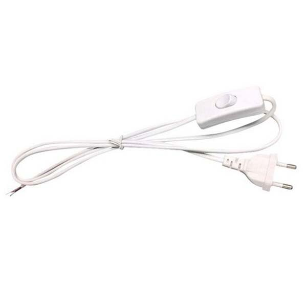 eu plug 1.8m line cable on off power cord wire extension