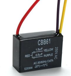 cbb61 1 5uf 2 5uf 3 wire 250vac ceiling fan capacitor 3 wires cod [ 1200 x 1200 Pixel ]