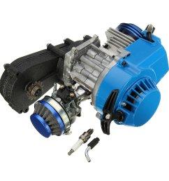 49cc 2 stroke engine motor w carb air filter gear box mini dirt bike quad atv cod [ 1200 x 1200 Pixel ]