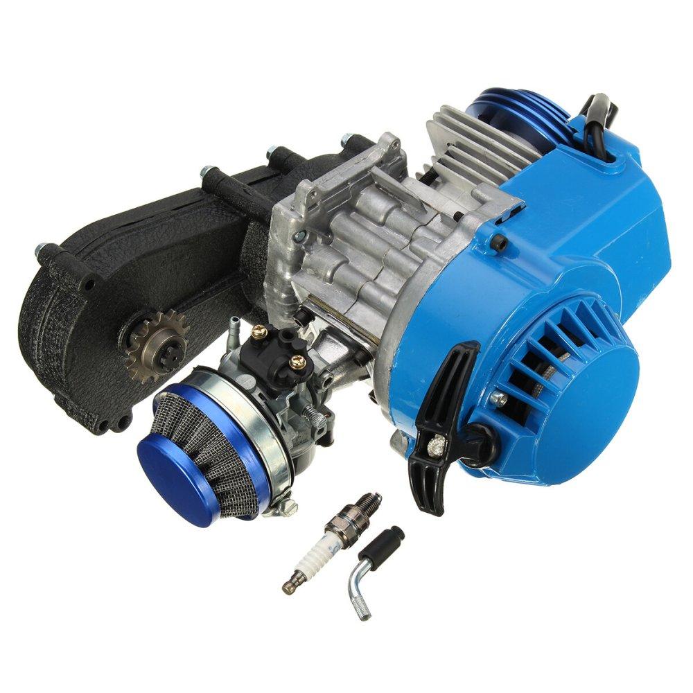 medium resolution of 49cc 2 stroke engine motor w carb air filter gear box mini dirt bike quad atv cod