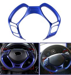 car interior steering wheel button covers trim blue decoration for toyota c hr 2016 2017 2018 2019 cod [ 1200 x 1200 Pixel ]