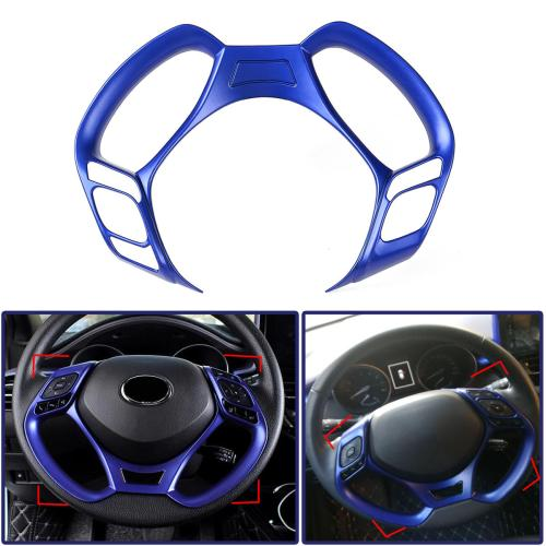 small resolution of car interior steering wheel button covers trim blue decoration for toyota c hr 2016 2017 2018 2019 cod
