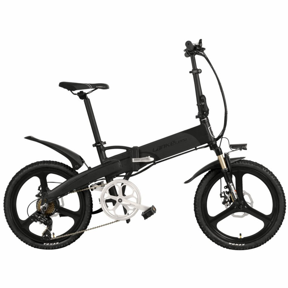 LANKELEISI G660 14.5ah 48V 400W 20Inch Folding Moped Bicycle 100Km Mileage Max Load 120kg With EU Plug Electric Bike