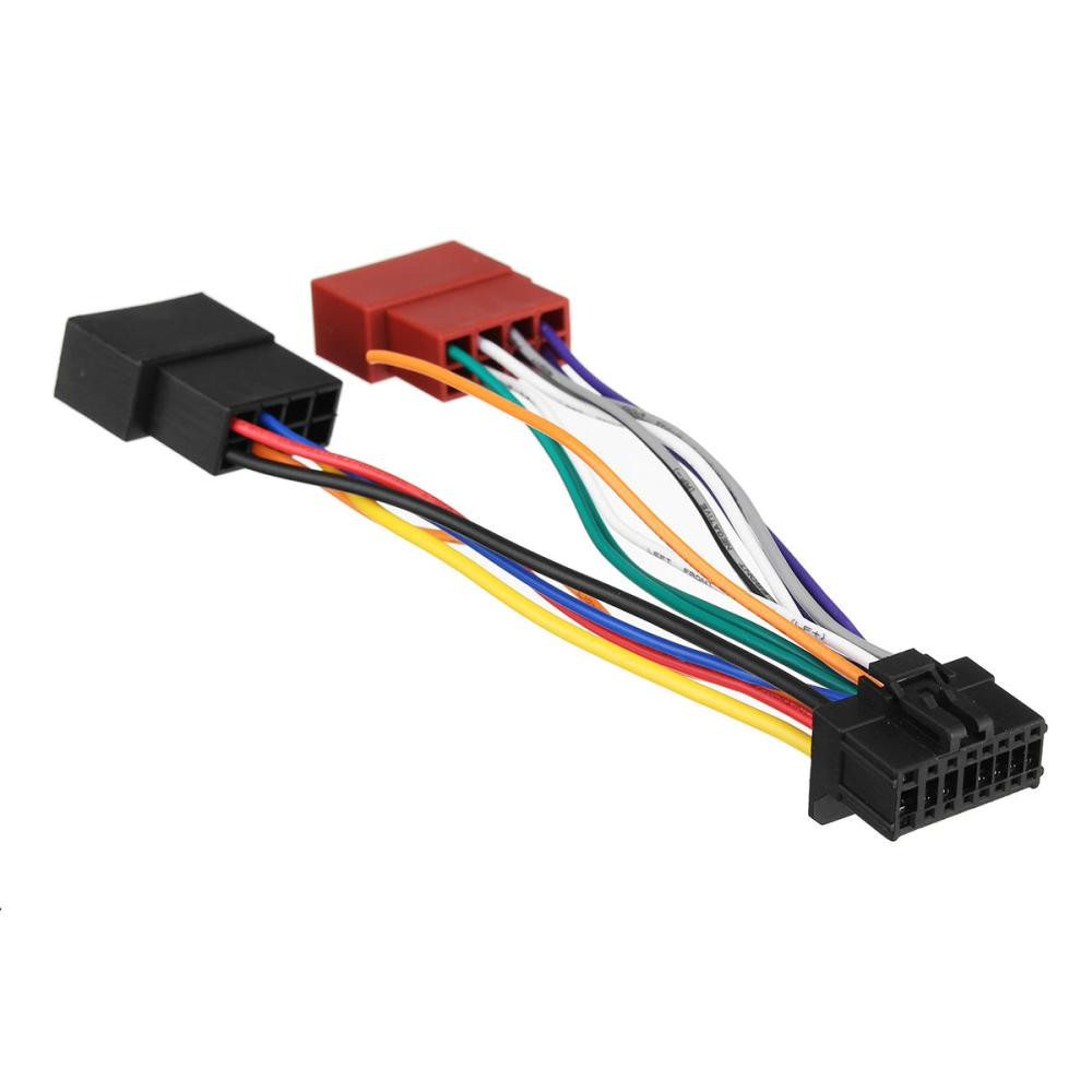 medium resolution of car stereo radio iso wiring harness connector 16 pin pi100 for stereo radio wire harness connector