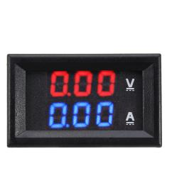 dual red blue led digital voltmeter ammeter panel volt gauge meter cod [ 1200 x 1200 Pixel ]