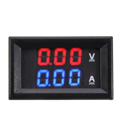 small resolution of dual red blue led digital voltmeter ammeter panel volt gauge meter cod