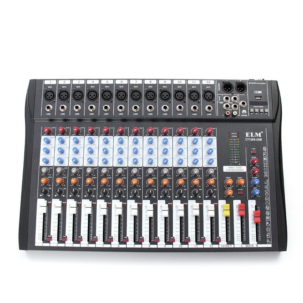 medium resolution of el m ct 120s 12 channel professional live studio audio mixer power usb mixing console cod