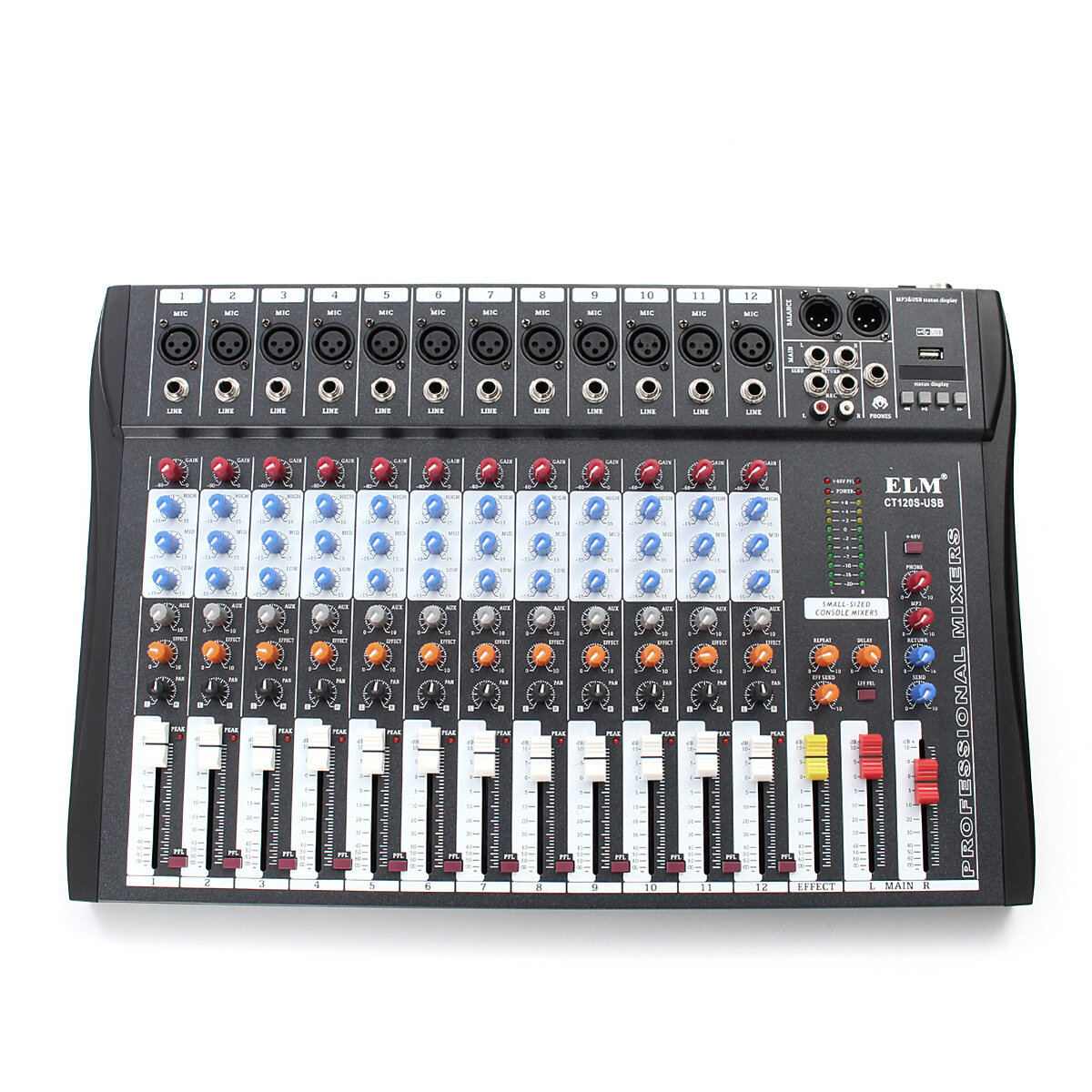 hight resolution of el m ct 120s 12 channel professional live studio audio mixer power usb mixing console cod