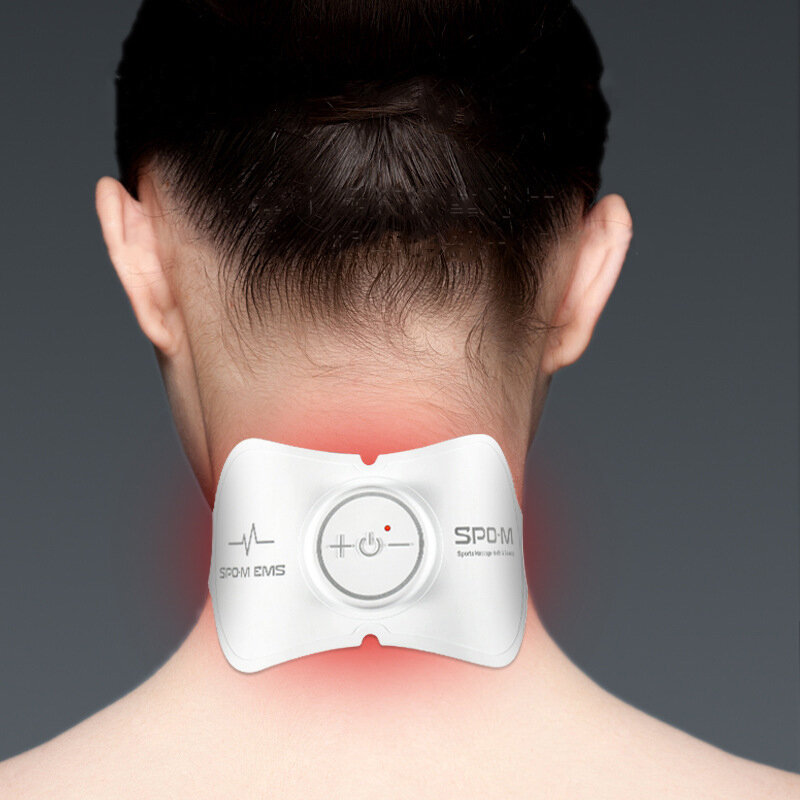 IPRee® EMS Electric Neck Massager Multi-function 3 Modes 15 Gears Adjustable Mini Portable Massage Stickers Cervical Vertebra Physiotherapy Instrument