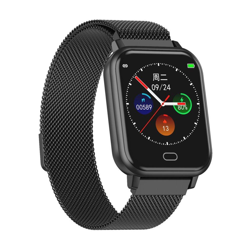 Bakeey Watch 6 Full Steel Wristband Heart Rate Blood Pressure Oxygen Monitor Music Control Smart Watch
