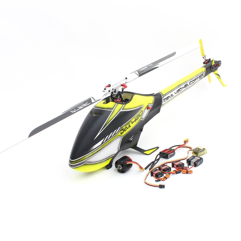 ALZRC Devil 420 FAST FBL 6CH 3D Flying Flybarless RC Helicopter Super Combo With Motor ESC Servo Gyro