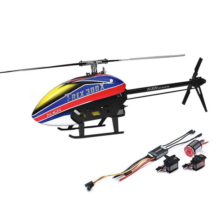 Align T-Rex 300X DOMINATOR DFC 6CH 3D Flying RC Helicopter Super Combo With RCE-BL25A ESC 3700KV Motor Digital Servos