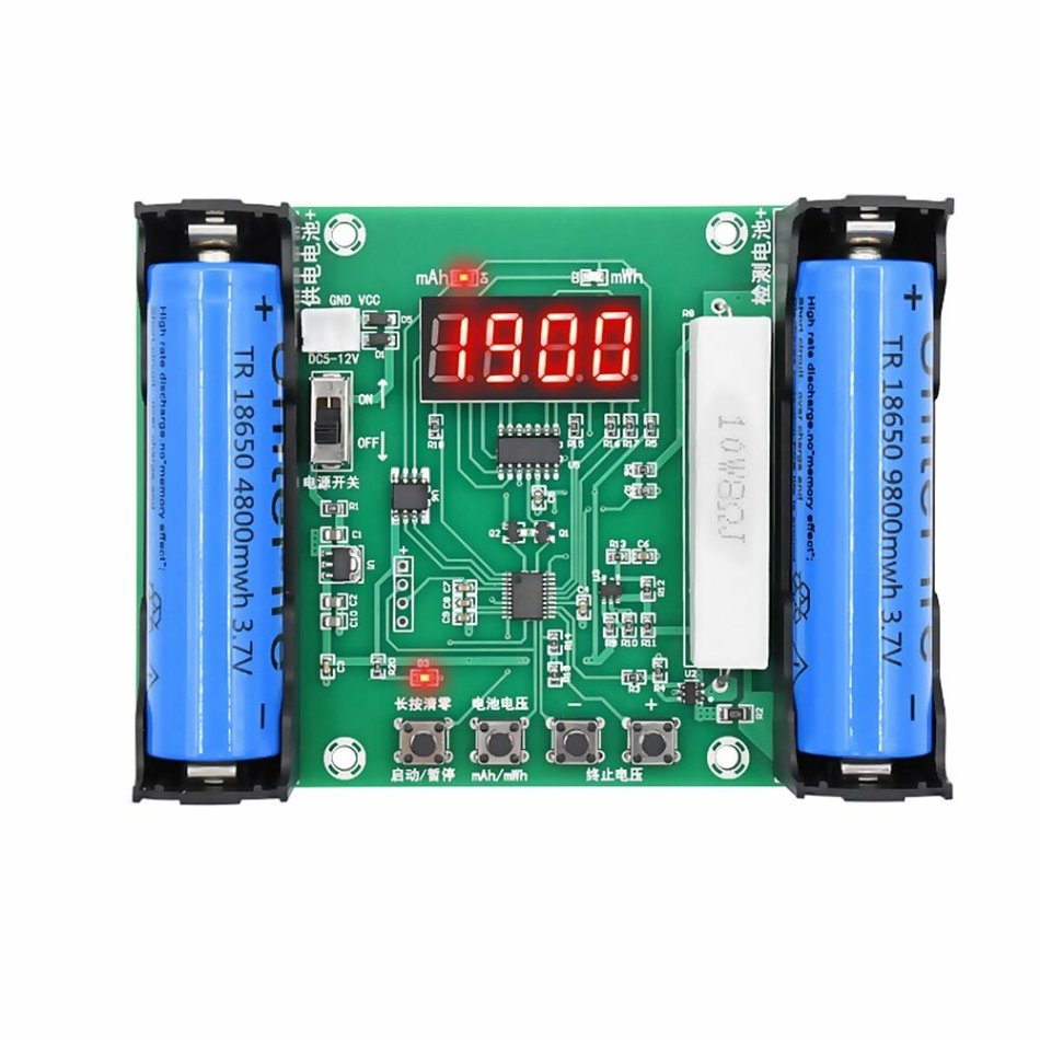 XH-M240 Battery Capacity Tester mAh mWh for 18650 Lithium Battery Digital Measurement Lithium Battery Power Detector Tester Voltmeter