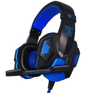 Plextone PC780 LED Light Noise-cancelling Gaming Headset -Blue