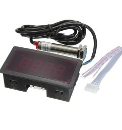 red led tachometer rpm speed meter with proximity switch sensor npn cod [ 1200 x 1200 Pixel ]