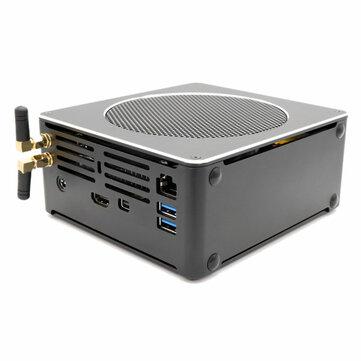 HYSTOU S200 Mini PC i5 8300H 8 Gen 16GB+256GB/16GB+512GB Quad Core Win10 DDR4 Intel UHD Graphics 630 4.0GHz Fanless Mini Desktop PC SATA mSATA MIC VGA HDMI 1000M WIFI