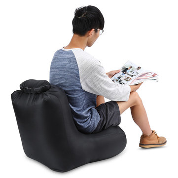 IPRee® 190T Polyester 120x60x48cm Air Inflatable Folding Chair Water Resistant Sofa Max Load 150kg