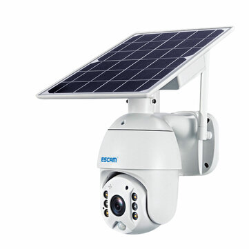 ESCAM QF480 1080P Cloud Storage PT 4G PIR Alarm IP Camera With Solar Panel Full Color Night Vision IP66 Waterproof Two Way Audio Camera