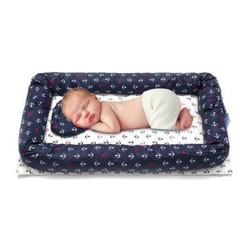 portable baby nest crib newborn babynest infant sleeping cotton sleep bed pillow