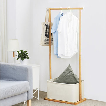 CHENGSHE Bamboo Solid Wood Floor Cloth Hanger Coat Rack Combination Shelf from xiaomi youpin