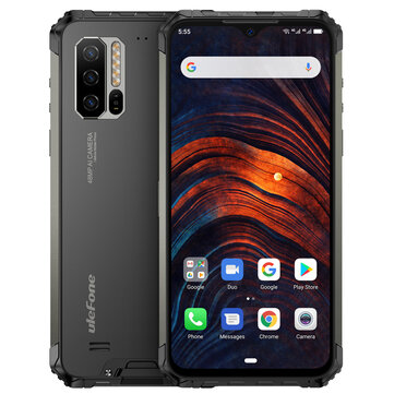 Ulefone Armor 7 IP68 IP69K Waterproof 6.3 inch 8GB 128GB 48MP Triple Camera NFC 5500mAh Wireless Charge Helio P90 Octa Core 4G Smartphone