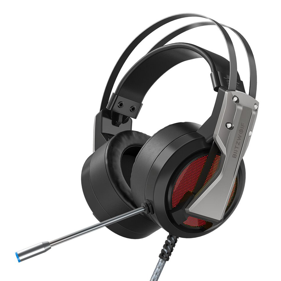 BlitzWolf® BW-GH1 Gaming Headphone 7.1 Surround Sound Bass RGB Game Headset with Mic for Computer PC PS4 XBOX Gamer