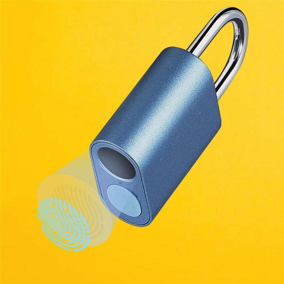 Smartda Fingerprint Door Lock Padlock USB Charging IPX7 Waterproof Keyless Anti Theft Travel Luggage Drawer Safety Lock