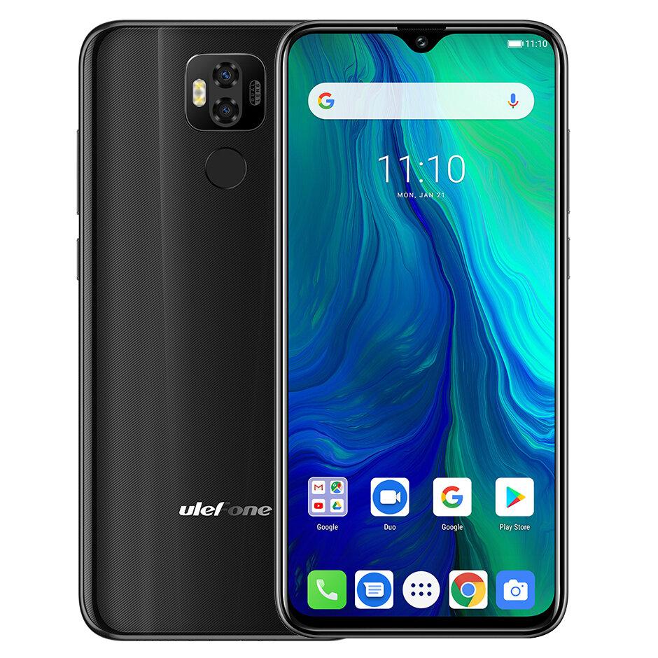 Ulefone Power 6 Global Version 6.3 inch FHD+ NFC 6350mAh 16MP Dual Rear Camera 4GB 64GB Helio P35 Octa core 4G Smartphone