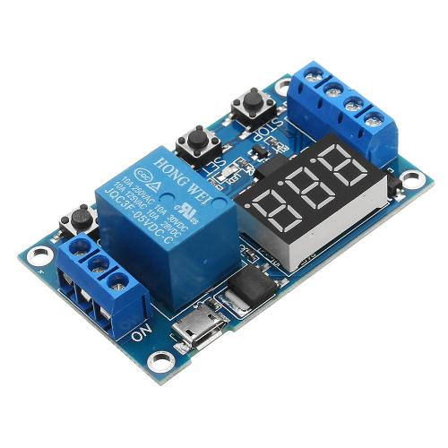 small resolution of 6 30v 1 channel relay module switch trigger time delay circuit timer cycle adjustable cod