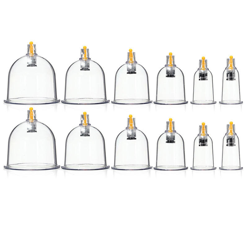 manual cupping set 12 cups slimming vacuum therapy massage