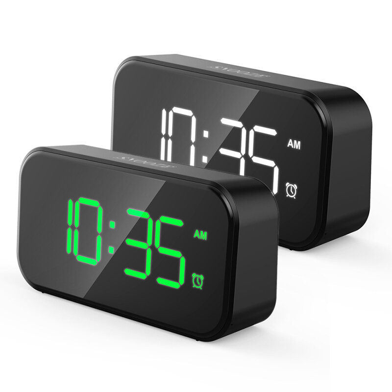 LED Digital Alarm Clock Fast Charging Backlight Snooze Mute Desktop Electronic Large Volume Alarm Clock Table Clocks Desktop Clock Home Decor