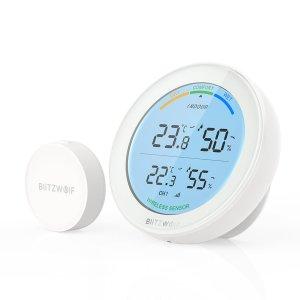 Στα €16.83 από αποθήκη Κίνας | BlitzWolf BW WS01 Wireless Temperature And Humidity Monitor Weather Station With White Backlight Display Air Comfort Indicator Support 3 Sensor