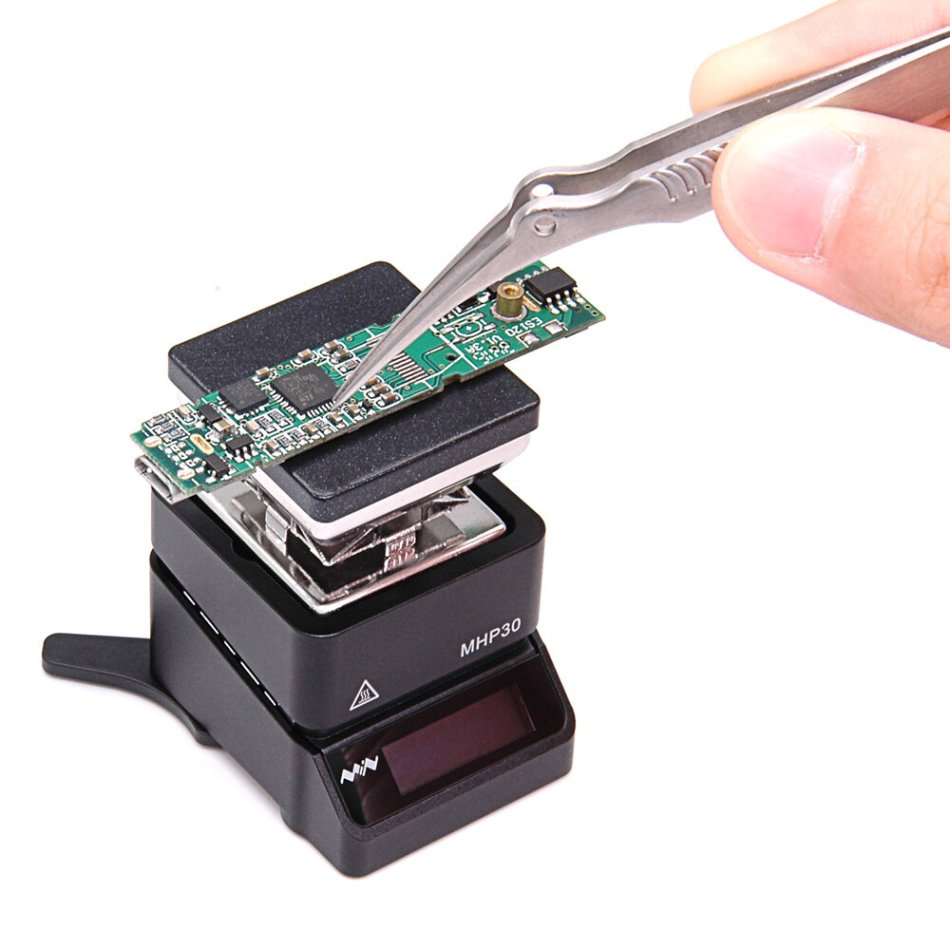 MHP30 Mini OLED Hot Plate Preheater 60W 350℃ Soldering Station Preset Temperature with PD Power Supply for PCB SMD Heating
