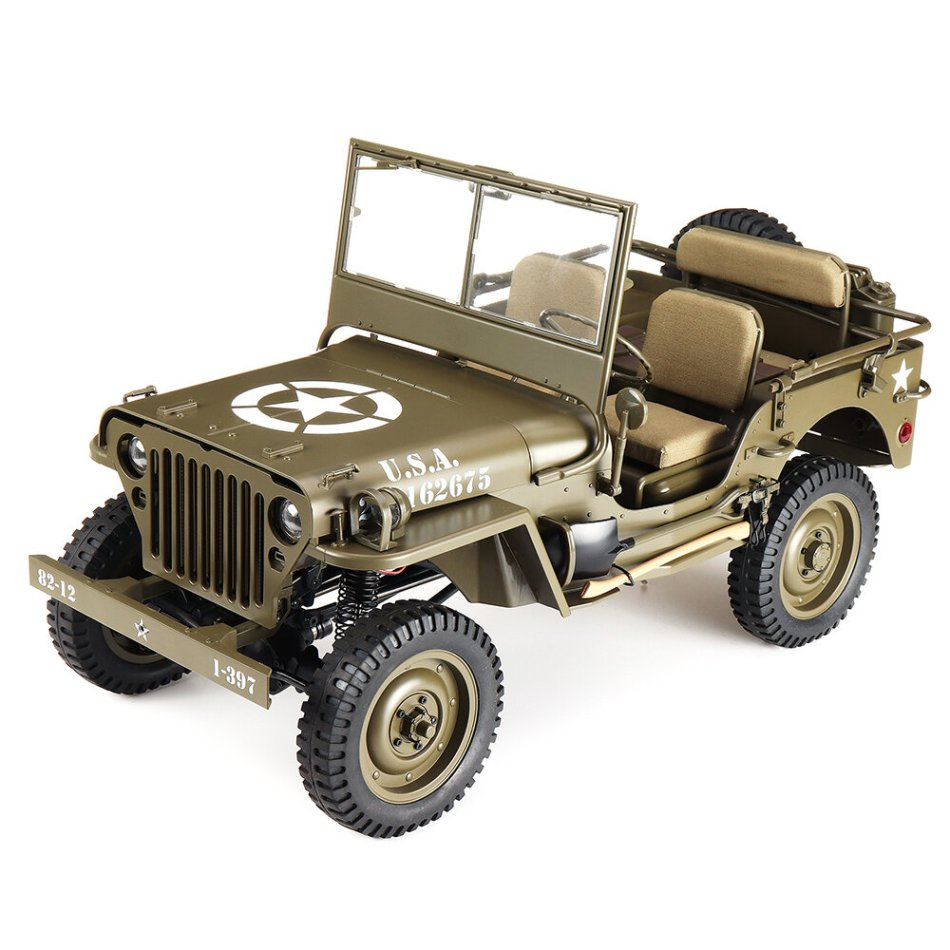 ROCHOBBY 1/6 2.4G 2CH 1941 MB SCALER RC Car Waterproof Vehicle Models Fully Proportional Control Without Transmitter Receiver