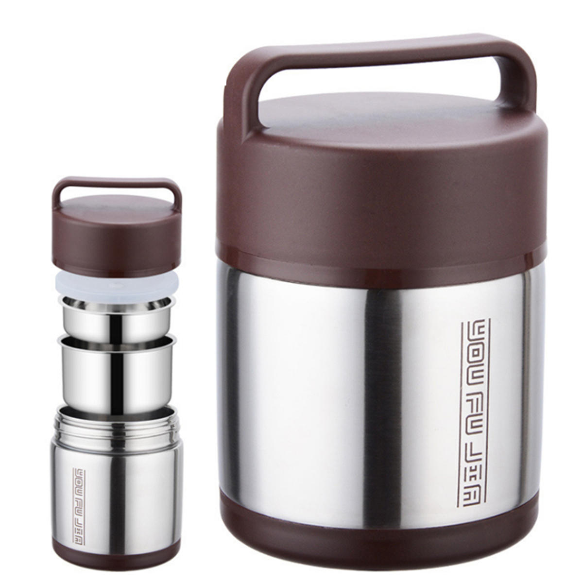 Vacuum Insulated Lunch Box Stainless Steel Jar Hot Cold