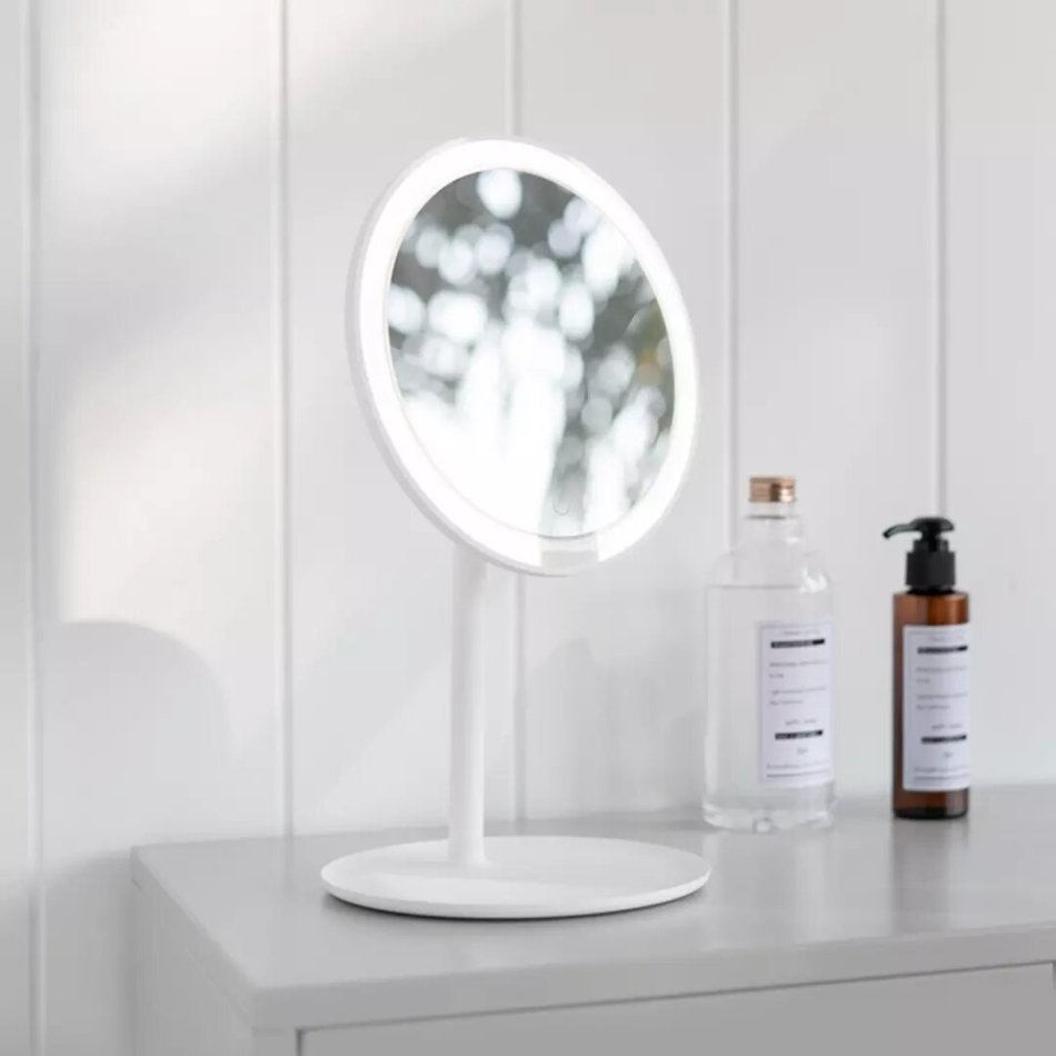 Xiaomi Mijia LED Make-up Mirror USB Type-C Charging 3 Light Mode Adjustable 900lm 45° Angle with Storage Panel Cosmetic Morror