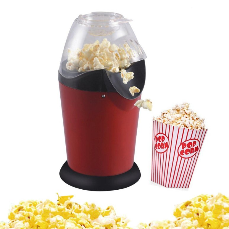 Mini household healthy hot air oil-free round popcorn maker home ...