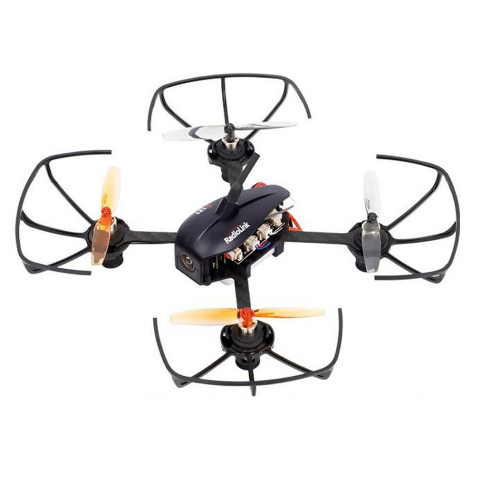 RadioLink F121 Eneopterinae 121mm Micro Brushed FPV Racing Drone BNF RTF w/ OSD Camera T8S RC 2KM Range 10mins Flight Time 47.5g Only