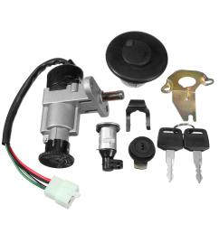 universal ignition switch key set 139qmb 50cc gy6 150cc chinese scooter ignition switch key set on tank 50cc scooter motor diagram [ 1200 x 1200 Pixel ]