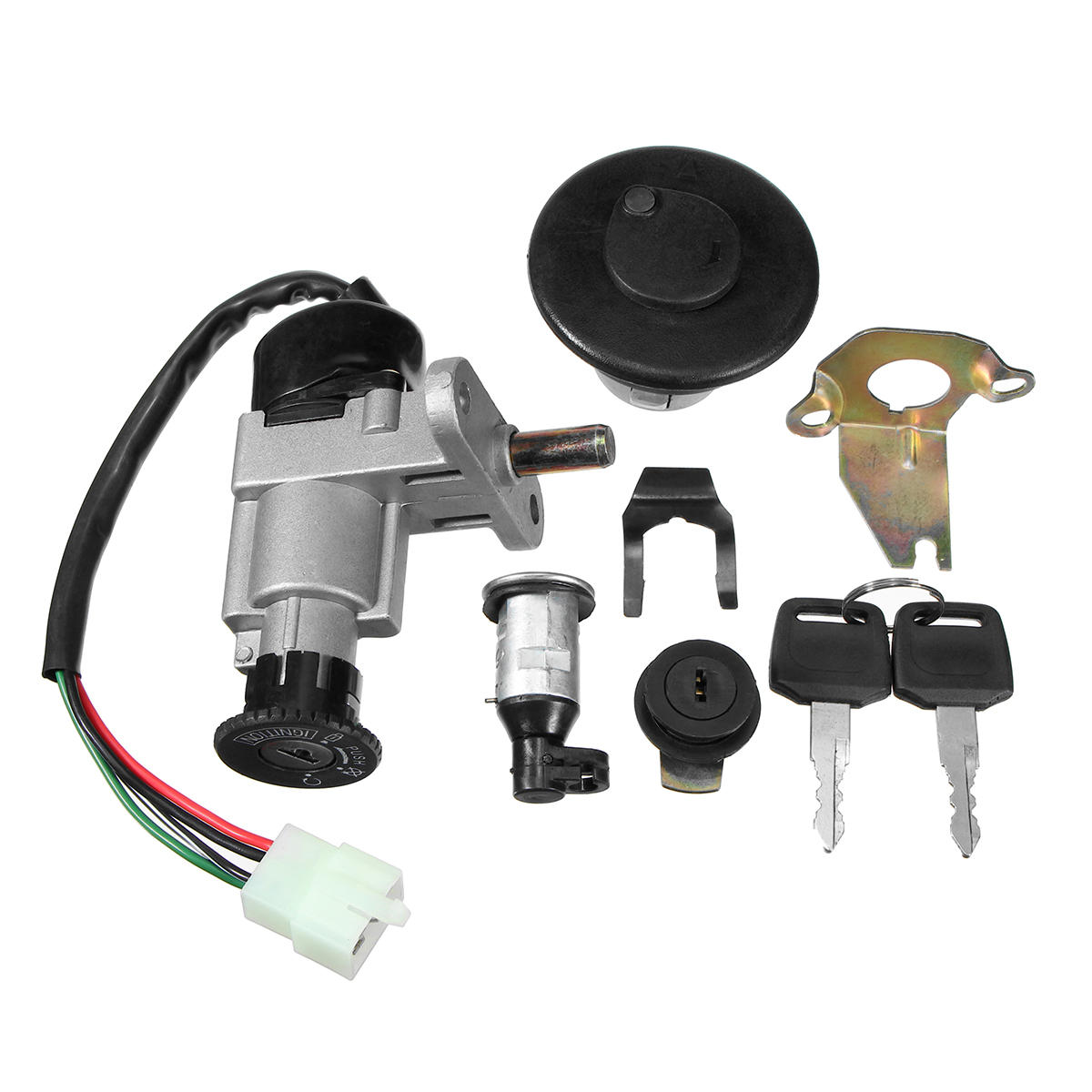 hight resolution of universal ignition switch key set 139qmb 50cc gy6 150cc chinese scooter ignition switch key set on tank 50cc scooter motor diagram