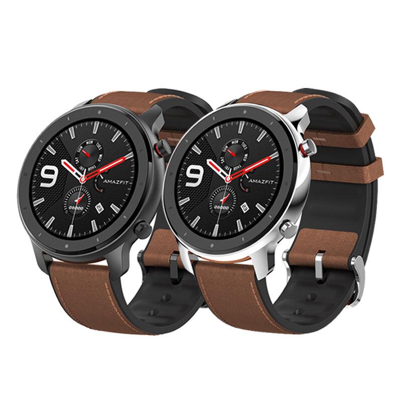 [bluetooth 5.0]Amazfit GTR 47MM AMOLED Smart Watch GPS+GLONASS 12 Sports Mode 5ATM Music Control Wristband Global Version