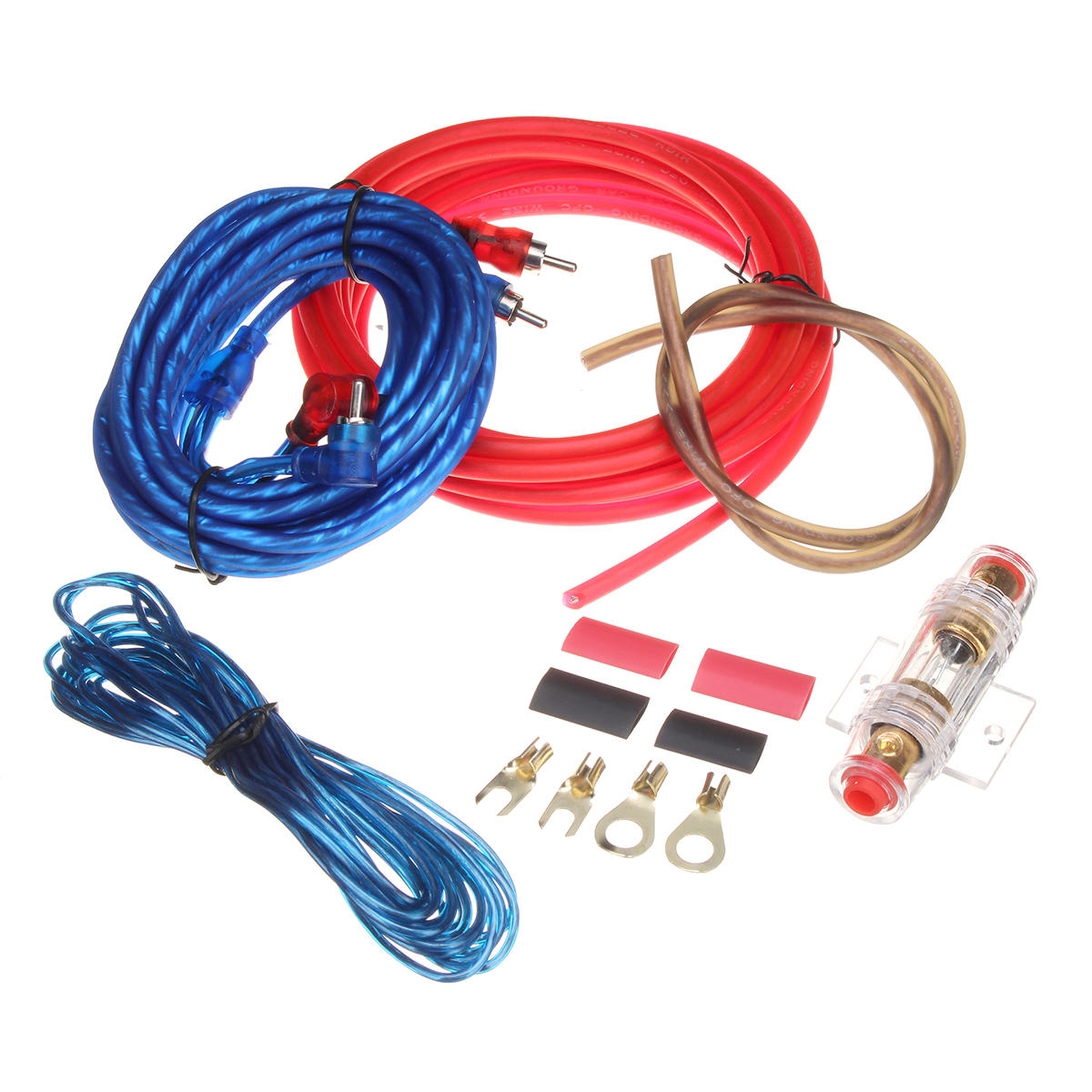 hight resolution of car audio subwoofer sub amplifier amp rca wiring kit power audio cable 10ga 4 5m cod
