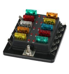 10 way blade fuse holder box 32v led illuminated automotive fuse block cod [ 1000 x 1000 Pixel ]