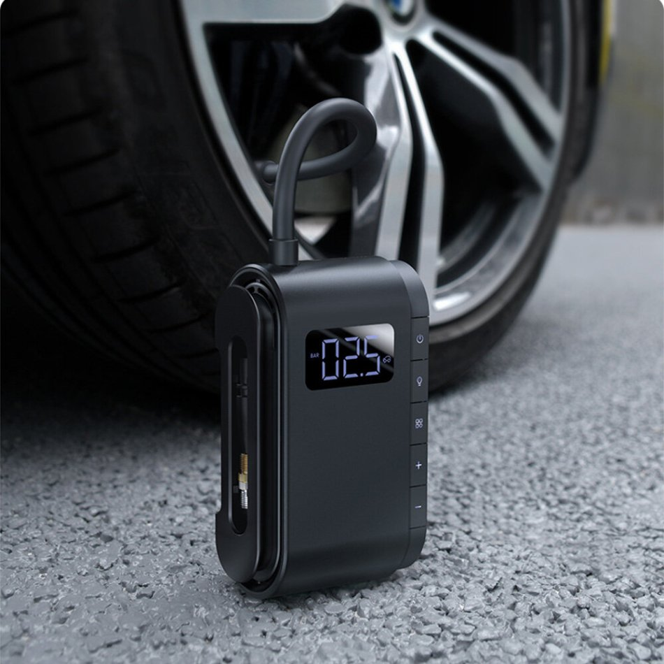 Baseus 150PSI Digital Car Air Compressor Wireless Tyre Inflator Motorcycle Bicyle Tire Inflatable Portable Electric Auto Pump COD