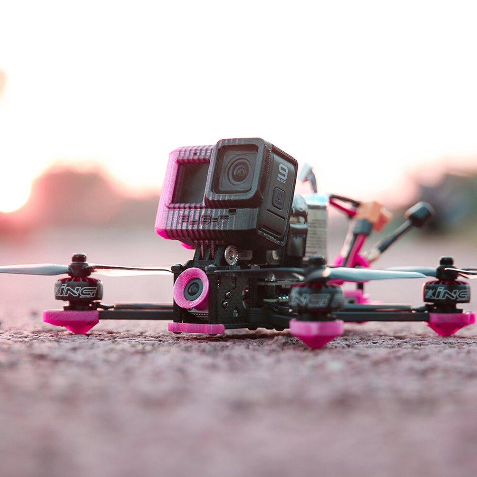iFlight Cidora SL5 V2.1 HD 4S 217mm 5 Inch FPV Racing Drone BNF DJI FPV Air Unit F7 FC 50A BLHeli_32 ESC Freestyle 2207 2450KV Motor Pink