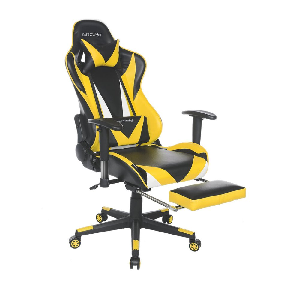 BlitzWolf® BW-GC2 Updated Version Gaming Chair Ergonomic Design 180°Reclining Adjustable Armrest Footrest Widen Backrest Home Office