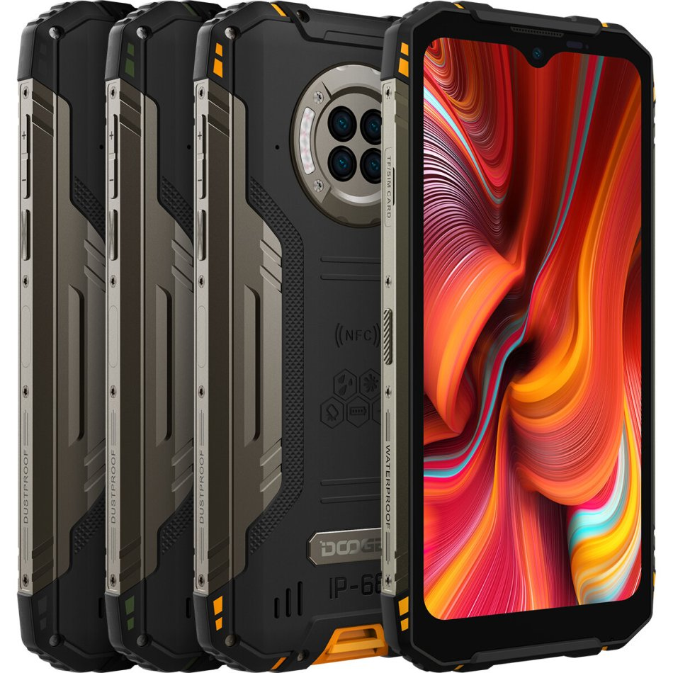 DOOGEE S96 Pro Global Bands IP68&IPIP69K 8GB 128GB Helio G90 NFC Android 10 6350mAh 6.22 inch 48MP Round Quad Camera 20MP Infrared Night Vision 4G Smartphone
