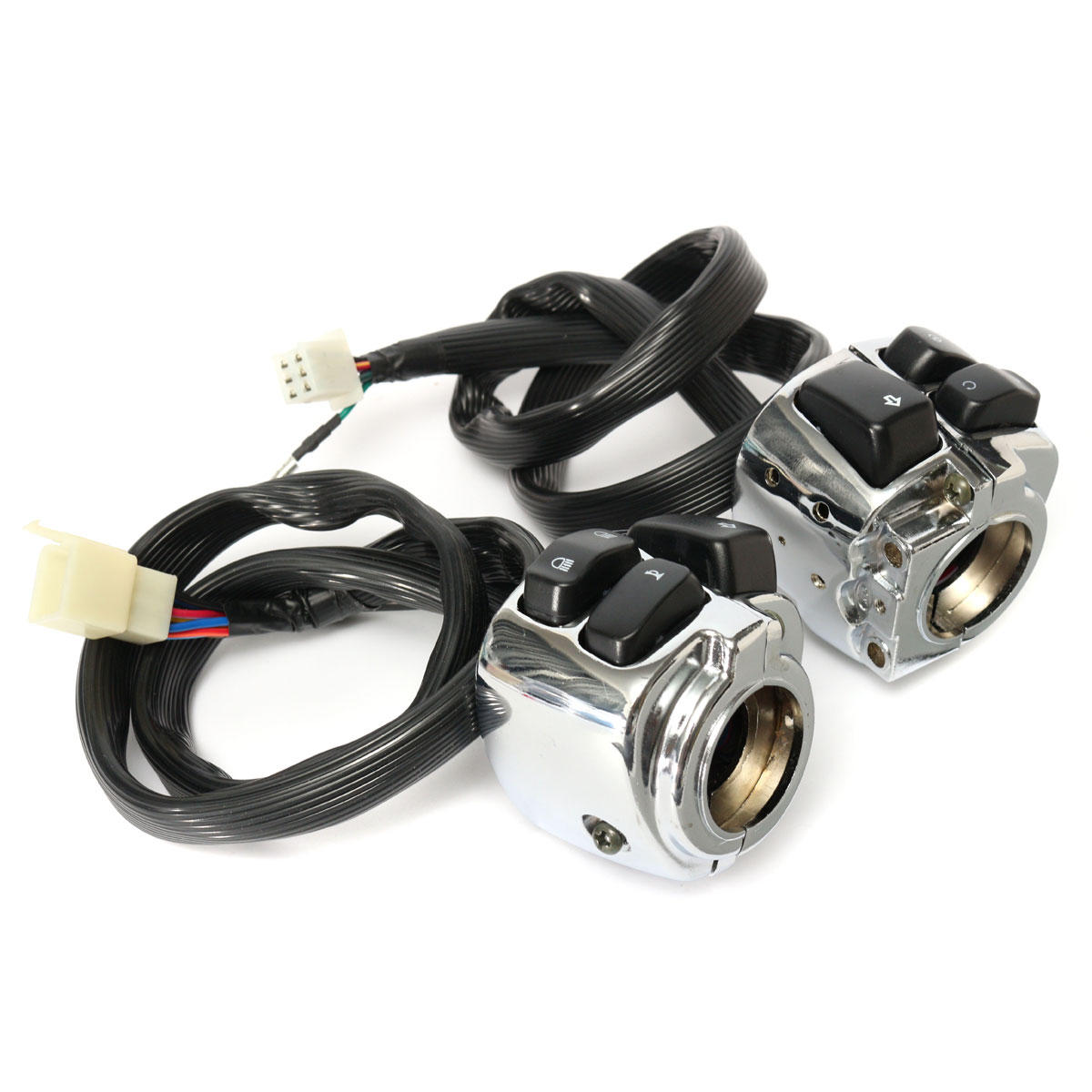 hight resolution of 1 inch handlebar control switches with wiring harness for harley motorcycle sale banggood com sold out